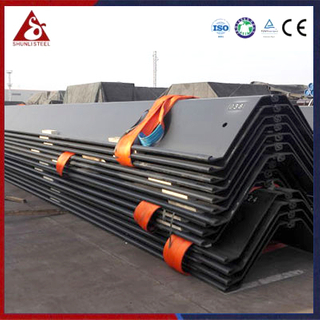 Verankerter Bulkhead Interlocking Z Sheet Pile